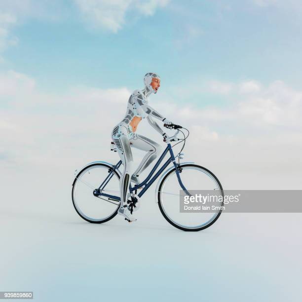 Machine Learning: female cyborg learns to ride a bicycle