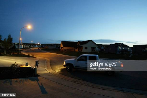 A machine operator Dan Mesa leaves his home at 515 am for the Buckskin Coal Mine in Gillette Wyoming May 6 2004 Mesa begins a 12hour shift as an...