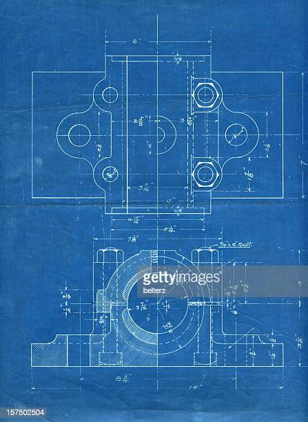 machine part blueprint