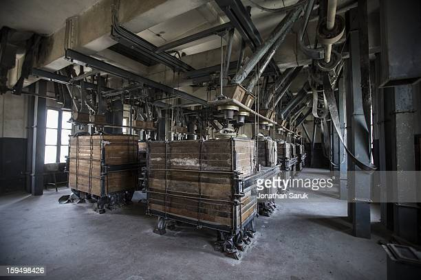Machinery at the Russian built grain silo site known as The Silo July 21 2012 in Kabul Afghanistan Built in 1956 the grain silo on site milled 200...