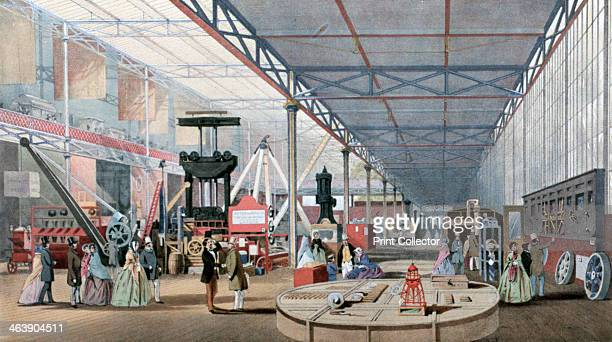 Machinery Hall Crystal Palace Exhibition London 1851 Conceived by Prince Albert the Great Exhibition was intended to showcase the 'Works of the...