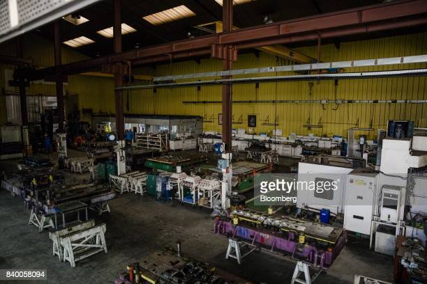 Machinery sits idle at the GMS automobile parts factory in La Souterraine La Creuse region France on Monday July 24 2017 Even as President Emmanuel...