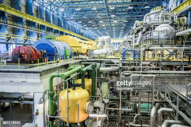 Machinery sits inside the generator area inside the Paks nuclear power plant operated by MVM Paksi Atomeromu Zrt in Paks Hungary on Monday April 10...