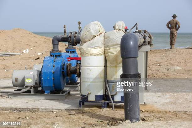 Machinery stands at a desalination plant in Gwadar Balochistan Pakistan on Tuesday July 4 2018 What used to be a small fishing town on the...