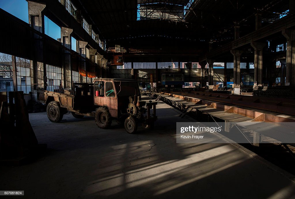 Machines and equipment sits idle in the abandoned Qingquan Steel plant, that was closed in 2014 and is one of several so-called 'zombie factories' as, on January 26, 2016 in Tangshan, China. China's government plans to slash steel production by up to 150 million tons, which could see the loss of as many as 400,000 jobs according to state estimates. Officials point to excessive industrial capacity, a slump in demand and plunging prices as they attempt to restructure China's slowing economy. Hebei province, long regarded as China's steel belt, once accounted for nearly a quarter of the country's steel output. In recent years, state-owned steel mills have been shut down and dozens of small privately-owned plants in the area have gone bankrupt.