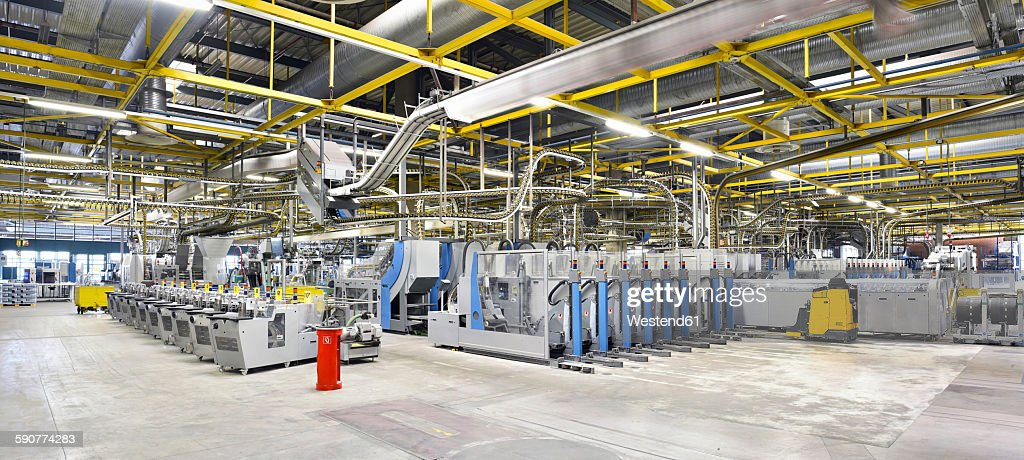 Machines for transport and packaging in a printing shop : Stock-Foto