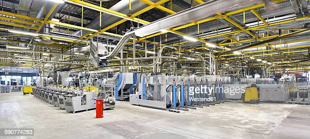 machines for transport and packaging in a printing shop - publisher stock pictures, royalty-free photos & images