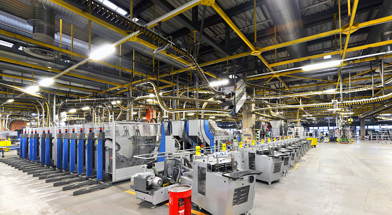 machines of a large printing plant - printing of daily newspapers 939210212