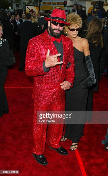 'Macho Man' Randy Savage and guest during 'SpiderMan' Premiere at Mann Village in Westwood California United States