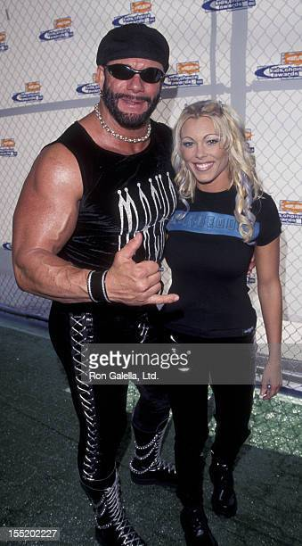 Macho Man Randy Savage and Stephanie Bellars attend 12th Annual Nickelodeon Kid's Choice Awards on May 1 1999 at the Pauley Pavilion at UCLA Campus...