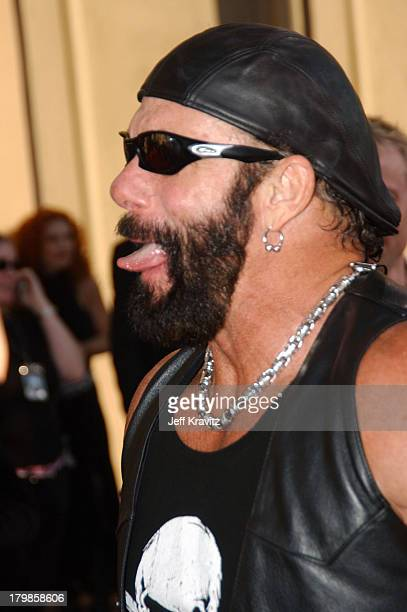 Macho Man Randy Savage during 31st Annual American Music Awards Arrivals at Shrine Auditorium in Los Angeles California United States