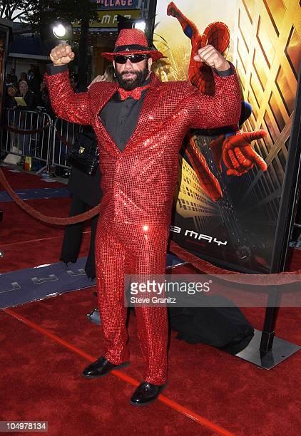 Macho Man Randy Savage during SpiderMan Premiere at Mann Village in Westwood California United States