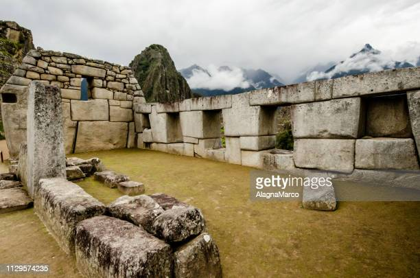machu picchu 2 - luogo d'interesse stock pictures, royalty-free photos & images