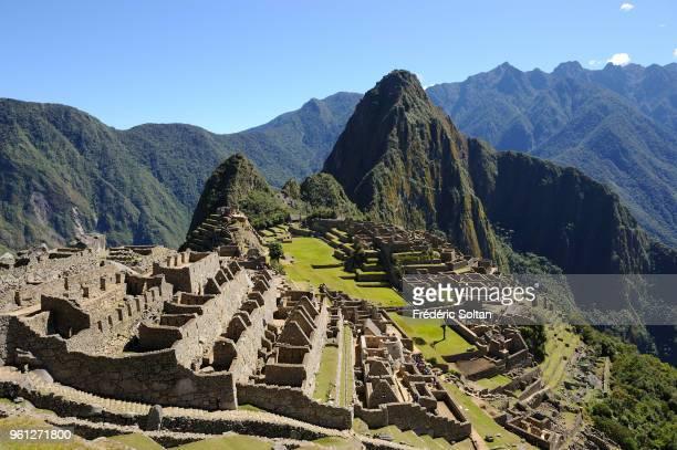 Machu Picchu aka the Old Mountain is a preColumbian Inca site situated on a mountain ridge above the Urubamba Valley in Peru Machu Picchu was built...