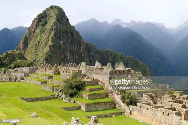 machu picchu - incan ruins - machu picchu foto e immagini stock