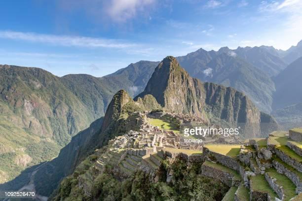 machu picchu - provinz cusco stock-fotos und bilder