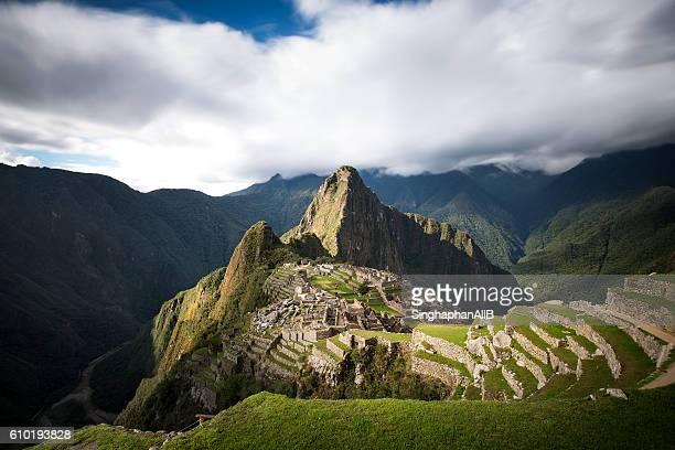 machu picchu - paisajes de peru fotografías e imágenes de stock
