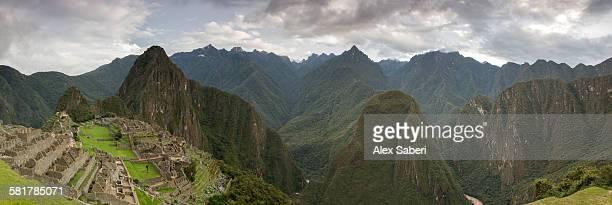 machu picchu , urubamba province , peru - alex saberi stock-fotos und bilder