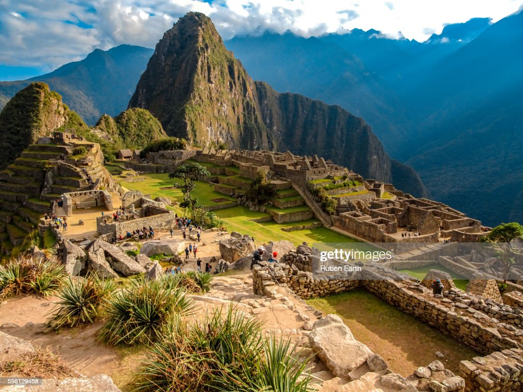 Machu picchu view in the morning : Stock-Foto