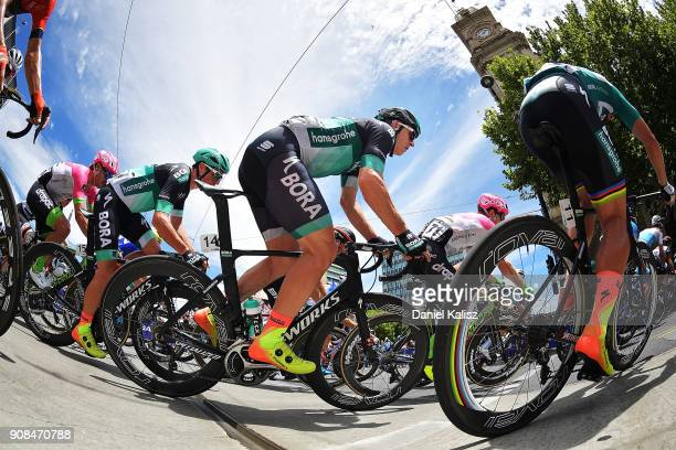 Maciej Bodnar of Poland and BoraHansgrohe competes during stage six of the 2018 Tour Down Under on January 21 2018 in Adelaide Australia