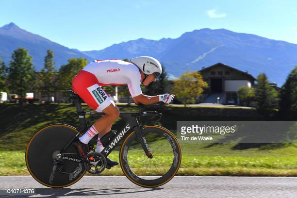 Maciej Bodnar of Poland / during the Men Elite Individual Time Trial a 525km race from Rattenberg to Innsbruck 582m at the 91st UCI Road World...