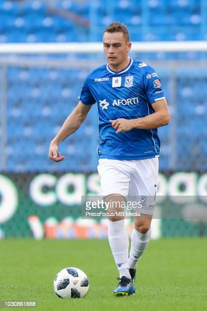 Maciej Gajos in action during Lotto Ekstraklasa match between Lech Poznan and Cracovia on July 29 2018 in Poznan Poland
