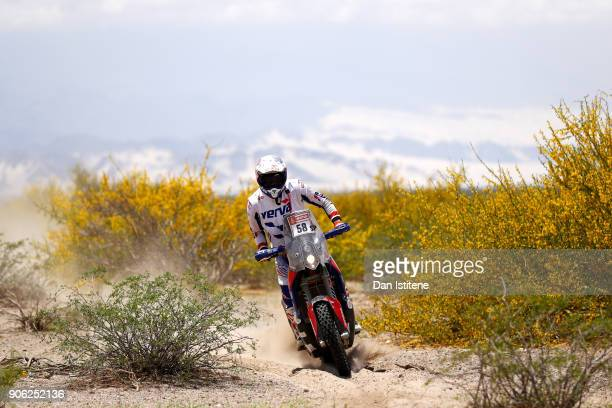Maciej Giemza of Poland and Orlen Team rides a KTM 450 Rally Replica in the Classe 21 Super Production during stage eleven of the 2018 Dakar Rally...