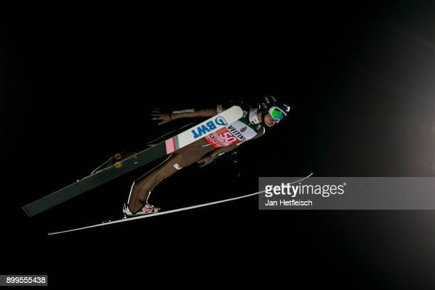 Maciej Kot of Poland competes during the qualification round for the Four Hills Tournament on December 29 2017 in Oberstdorf Germany