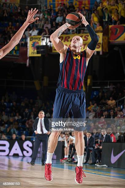 Maciej Lampe #30 of FC Barcelona in action during the 20132014 Turkish Airlines Euroleague Top 16 Date 14 game between FC Barcelona Regal v Laboral...