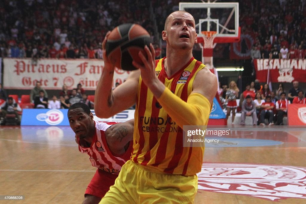 Maciej Lampe Of Barcelona In Action During The Turkish Airlines Euroleague  Basketball Play Off Quarter Final