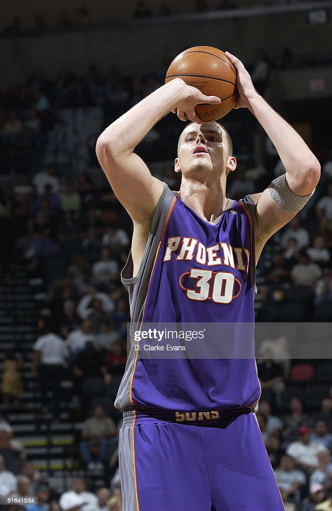 Maciej Lampe Of The Phoenix Suns Shoots A Free Throw During A