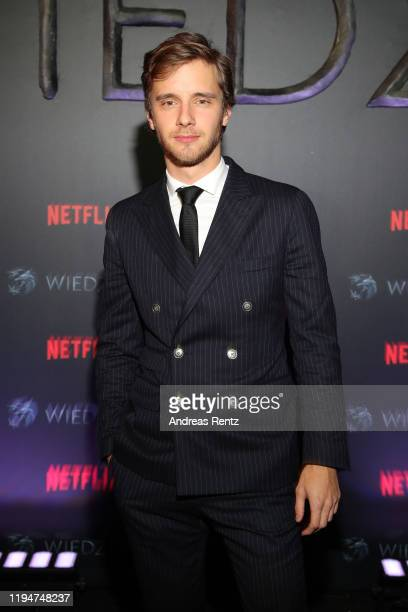 Maciej Musial attends the premiere of the Netflix series The Witcher on December 18 2019 in Warsaw Poland