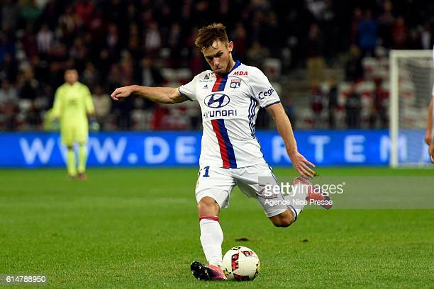 Maciej Rybus of Lyon during the Ligue 1 match between OGC Nice and Olympique Lyonnais at SAllianz Riviera on October 14 2016 in Nice France
