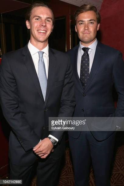 Mack Abbott and William Fitzgerald attend David Patrick Columbia And Chris Meigher Toast The QUEST 400 At DOUBLES on September 27 2018 in New York...