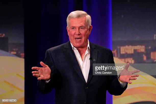 Mack Brown during The Golf Channel Bracket Special prior to the World Golf ChampionshipsDell Technologies Match Play at Austin Country Club on March...