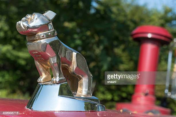 mack firetruck - hood ornament stock pictures, royalty-free photos & images