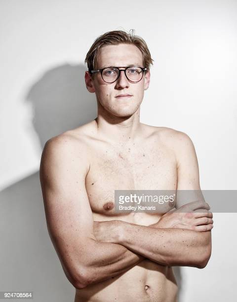 Mack Horton poses for a photo during the 2018 Australian Swimming Trials Media Opportunity at the Optus Aquatic Centre on February 27 2018 in Gold...
