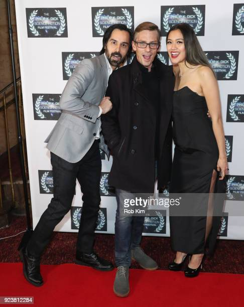 Mack Kuhr Charles Baker Aly Mang attend the World Premiere of ALTERSCAPE directed by Serge Levin at The Philip K Dick Science Fiction Film Festival...