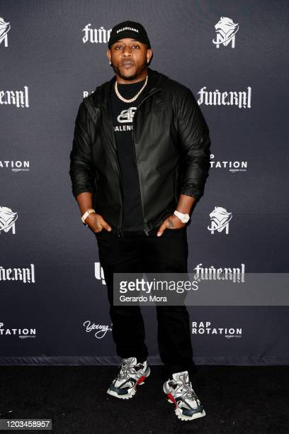 Mack Maine attends Lil Wayne's Funeral album release party on February 01 2020 in Miami Florida