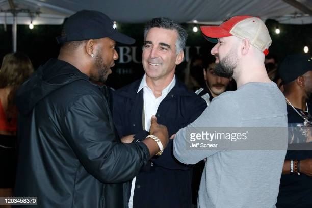 Mack Maine Avery Lipman and Josh Berkman attend Lil Wayne's Funeral album release party on February 01 2020 in Miami Florida