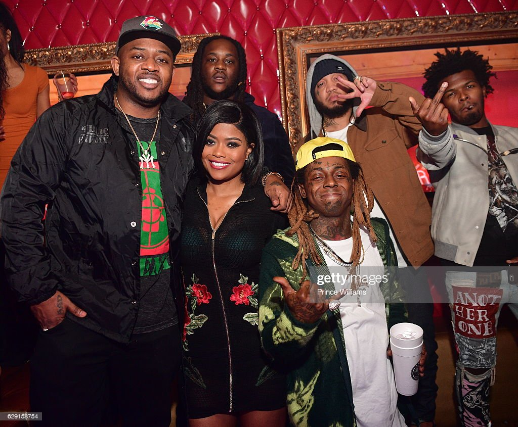 Mack Maine, Karen Civil, Gudda Gudda and Lil Wayne attend the Concert after Party Featuring Jeezy + Wayne at Compound on December 11, 2016 in Atlanta, Georgia.