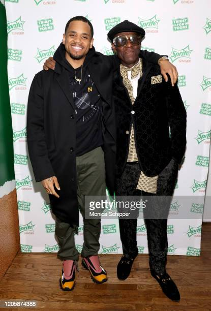 Mack Wilds and Dapper Dan arrive at Extra Butter NYC for the Sprite Ginger Collection drop event and limited-edition fashion collection debut on...