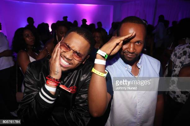 Mack Wilds and DJ Reg West attend the 2017 Essence Festival on July 2 2017 in New Orleans Louisiana