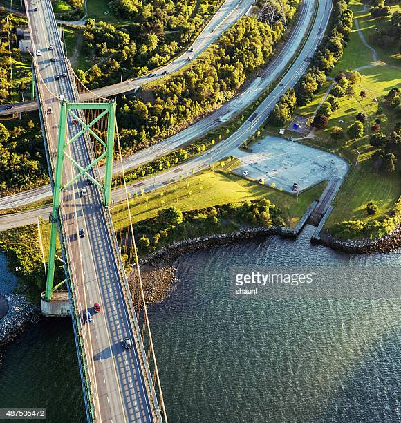 MacKay Bridge from Above