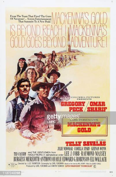 Mackenna's Gold poster US poster#10front to back Gregory Peck Omar Sharif Camilla Sparv Telly Savalas Julie Newmar Keenan Wynn Ted Cassidy 1969