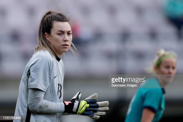Mackenzie Arnold of Australia Women during the International Friendly Women match between Holland v Australia at the Goffert Stadium on April 13,...