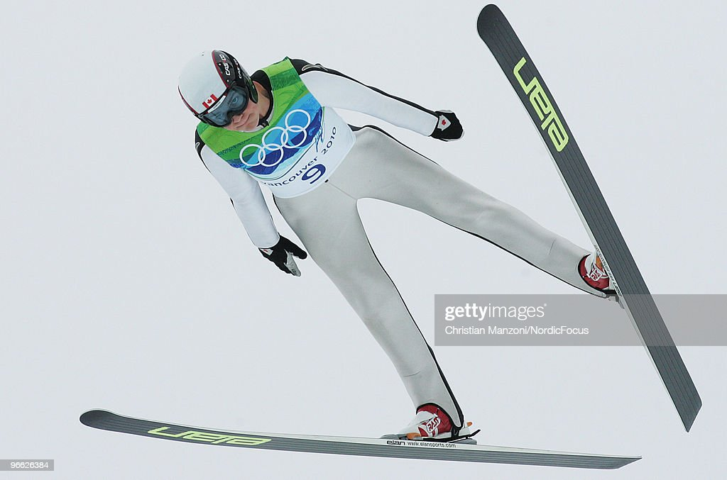 Mackenzie Boyd-Clowes of Canada competes during the Ski Jumping Normal Hill Individual Qualification Round at the Olympic Winter Games Vancouver 2010 ski jumping on February 12, 2010 in Whistler, Canada.