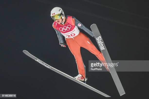 Mackenzie BoydClowes ofCanada at mens normal hill final at 2018 Pyeongchang winter olympics at Alpensia Ski Jumping Centre Pyeongchang South Korea...