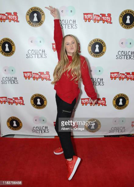 Mackenzie Couch attends The Couch Sisters 1st Annual Toys For Tots Toy Drive held onNovember 20 2019 in Glendale California
