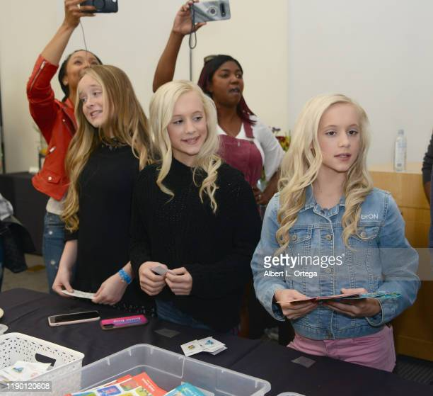 Mackenzie Couch, Kameron Couch and Katie Couch attend Project Hollywood Helpers held at the Skirball Cultural Center on November 16, 2019 in Los...